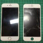 iPhone6 画面交換前後
