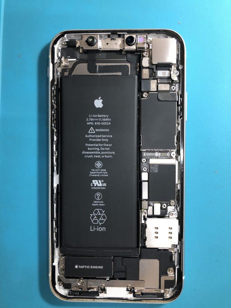 iPhoneXR 防水テープ貼り終わり