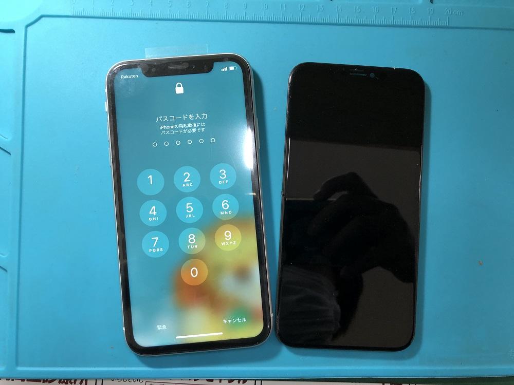 iPhoneXR フロントパネル交換後