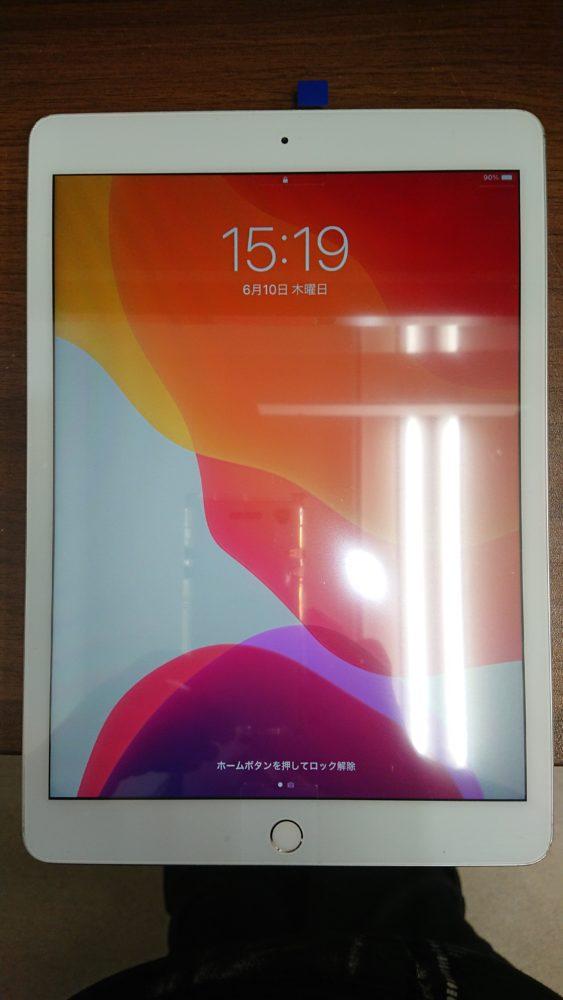 iPad7フロントガラス割れ修理後