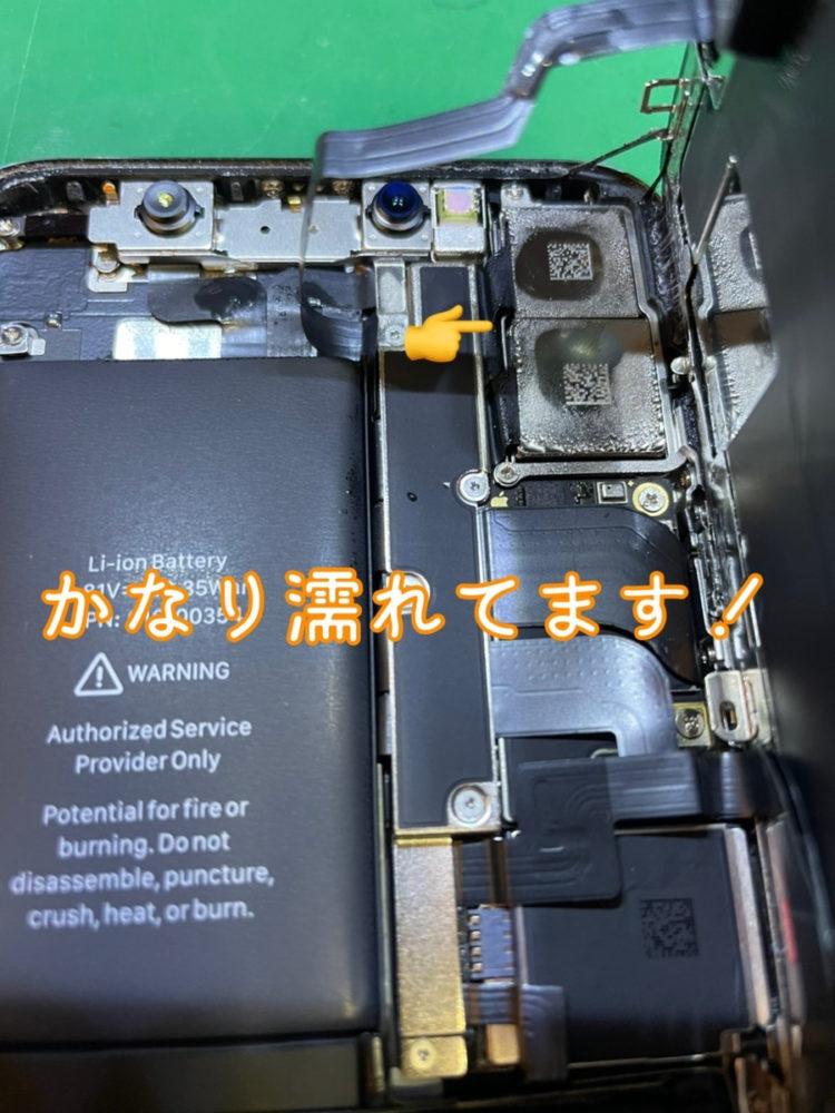 iPhoneX水没