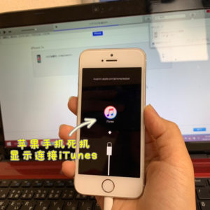 iPhone5s 显示iTunes图标