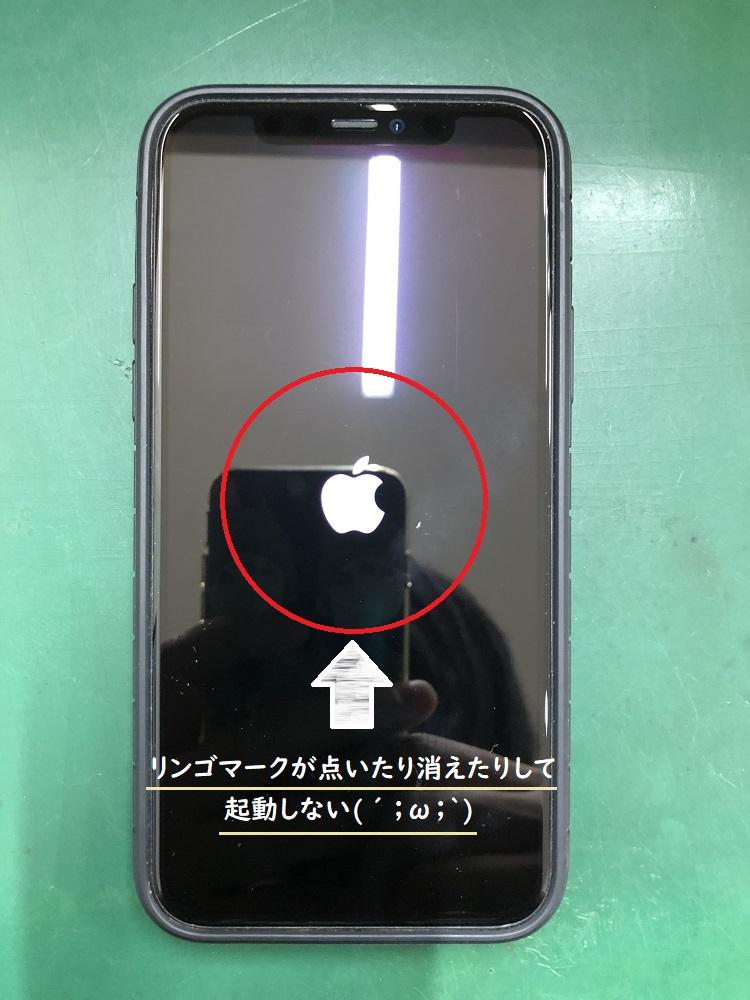 iPhone リンゴループで起動しない