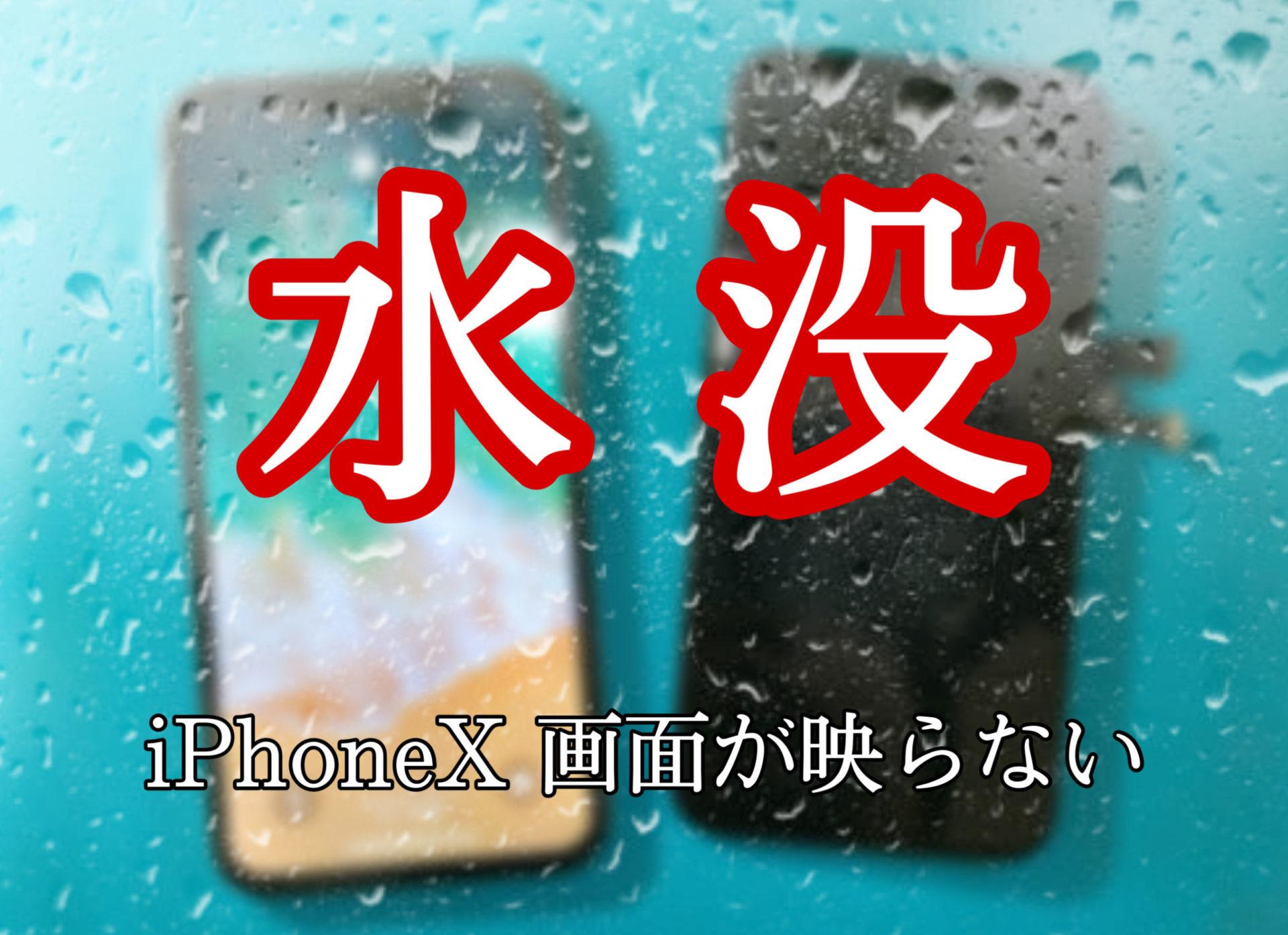 iPhoneX 水没