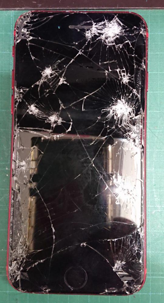 iPhoneSE2画面割れ修理前